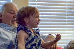 Great Grandpa and Isabella meet