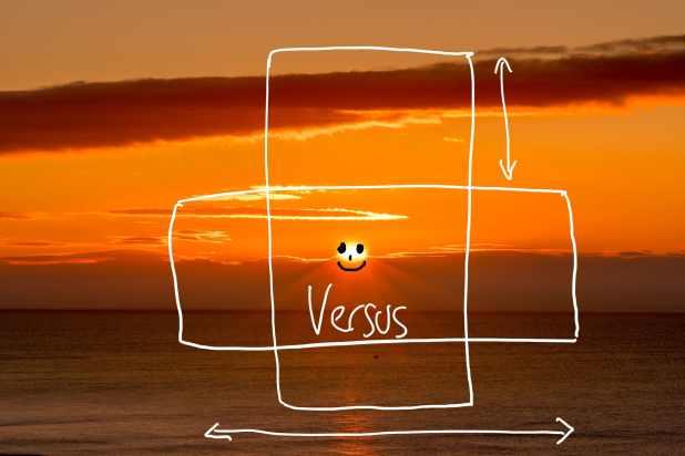 taking vertical vs horizontal photographs