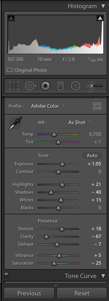 adobe lightroom - how to control an overexposed photograph