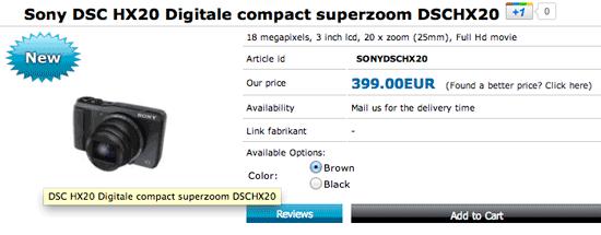 Sony DSC HX20
