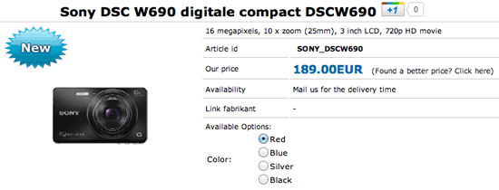 Sony DSC W690