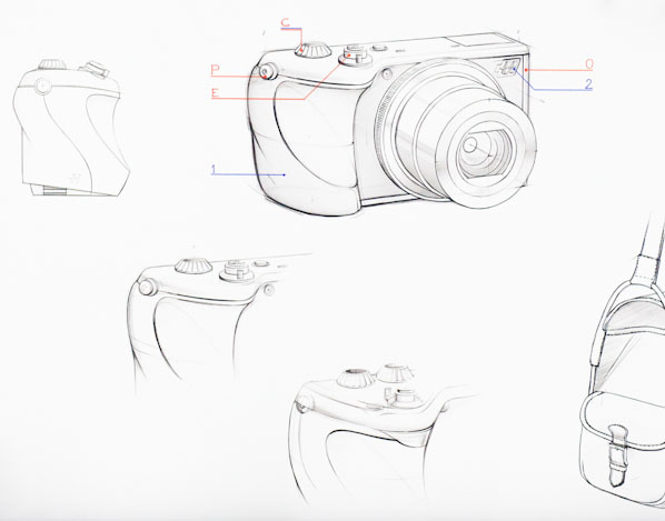 Hasselblad's drawings for a compact camera based on the