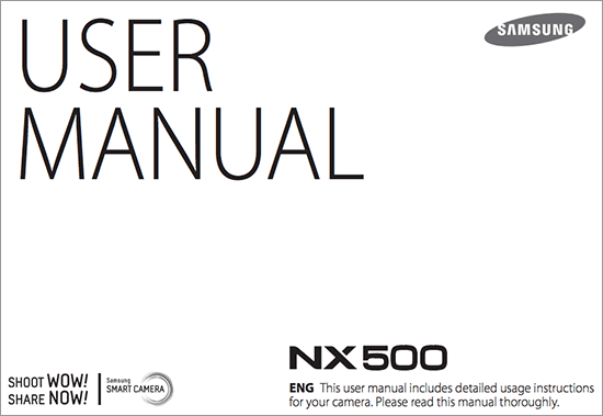 Samsung NX500 additional information (user manual, 4k in 1