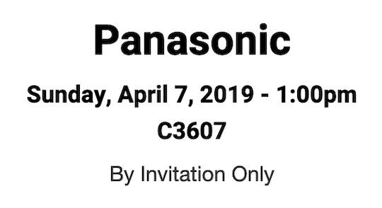 Panasonic, Sony and Blackmagic have scheduled press events