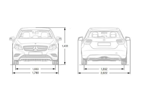 Mercedes A-Class Dimensions