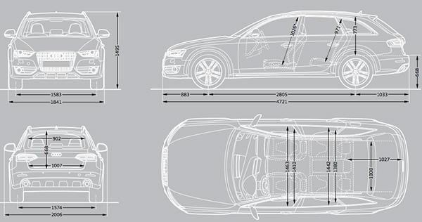 Audi A4 dimensions 2015