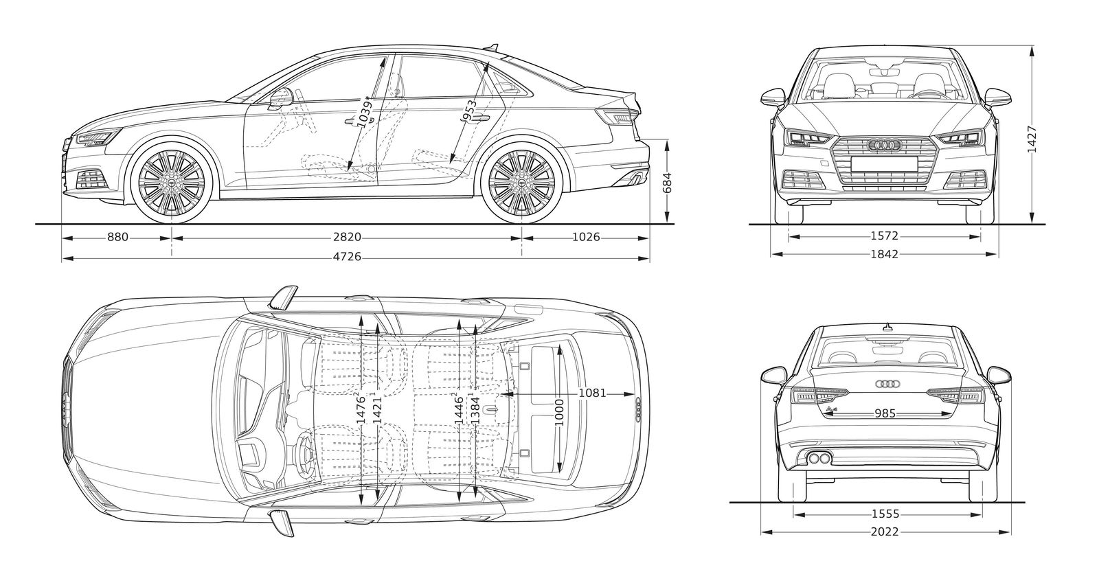 Audi A4 Sizes Dimensions Amp Legroom Guide
