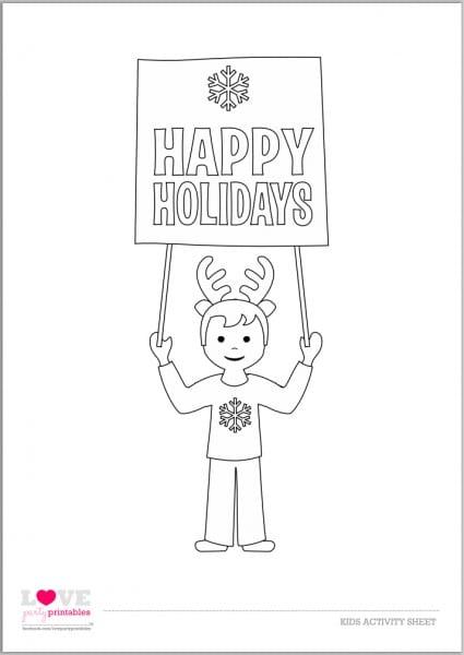 FREE Christmas Kids' Activity Sheets and Coloring Sheets