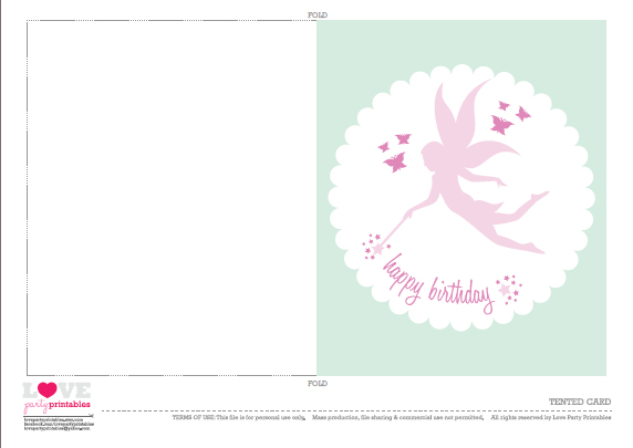 free fairy party printables from love