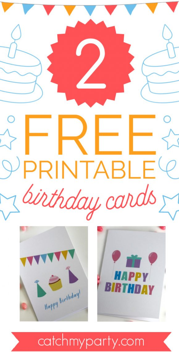 Download These Fun Free Printable Blank Birthday Cards Now Catch My Party