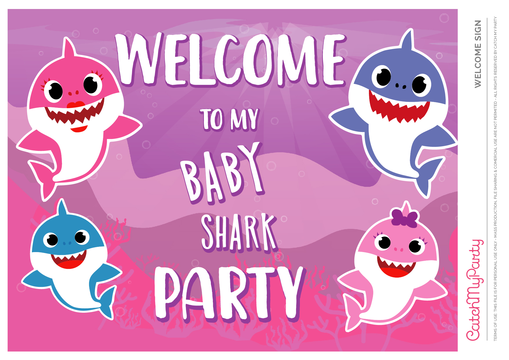 Download These Free Baby Shark Party Printables Catch My Party