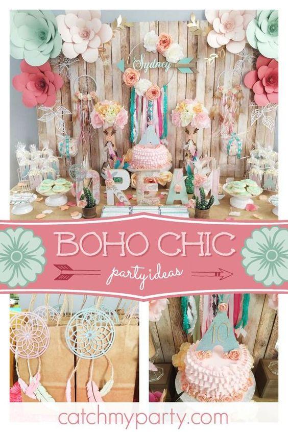 Fiesta de cumpleaños de Boho Chic
