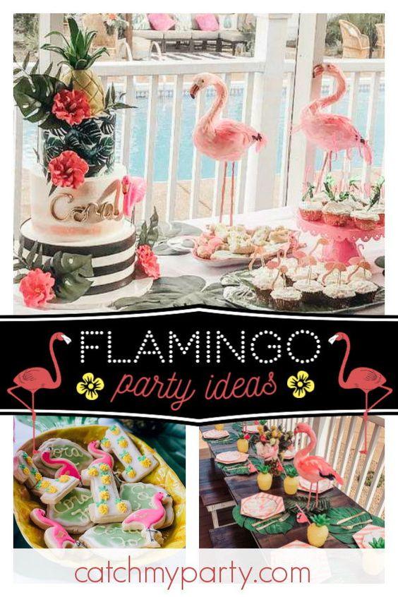 Fiesta de cumpleaños flamingo