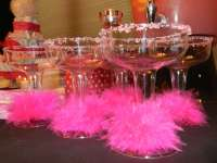Pink and Black Damask Baby Shower Party Ideas | Photo 10 ...