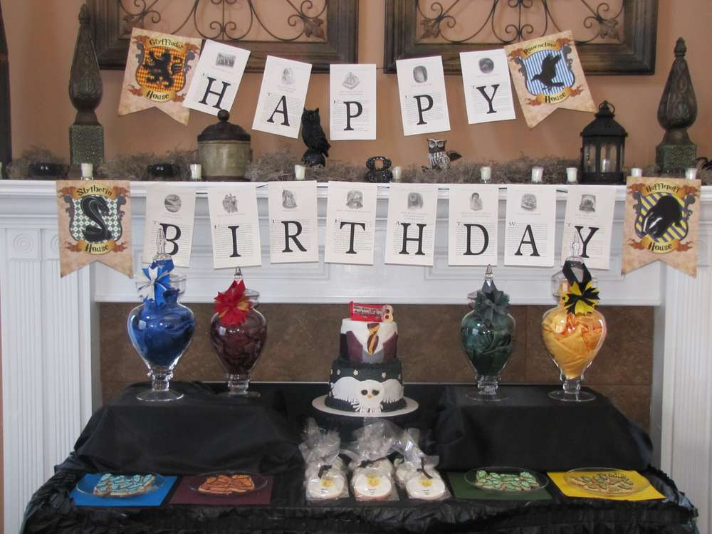 HOGWARTS Harry Potter Birthday Party Ideas Photo 1 Of