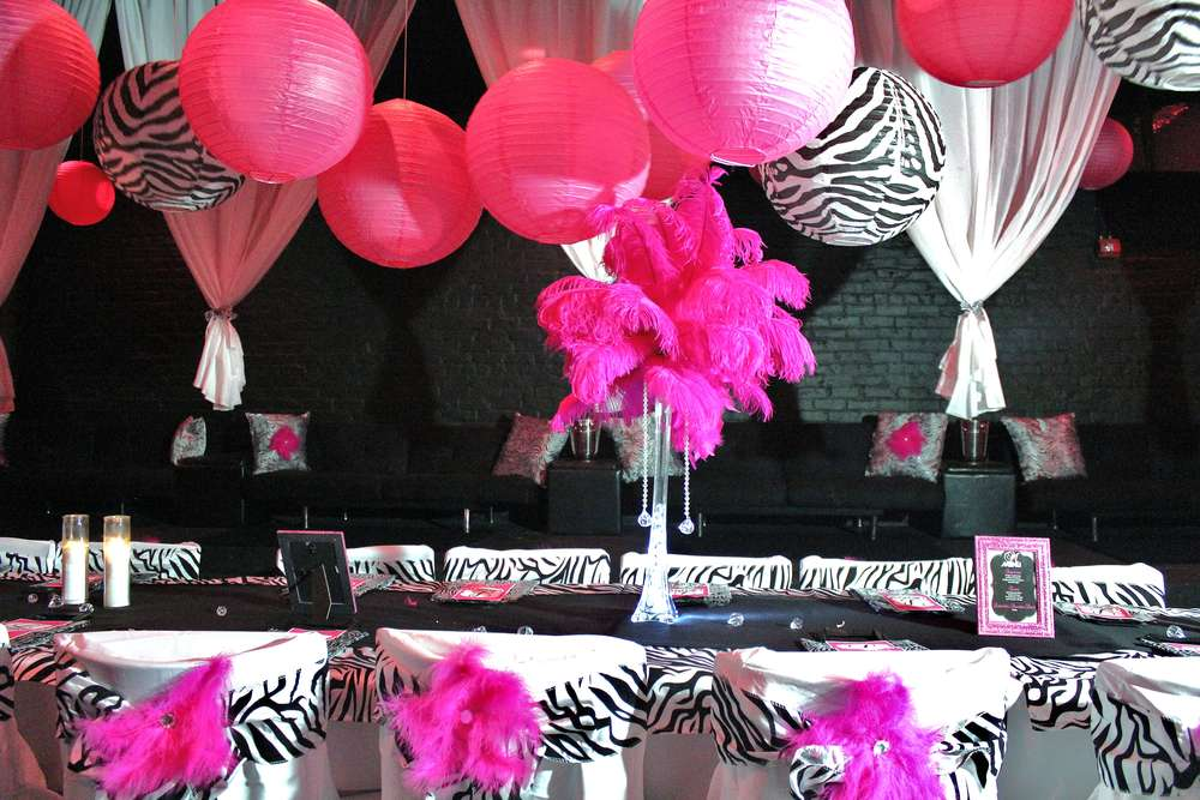 Zebra & Hot Pink Birthday Party Ideas