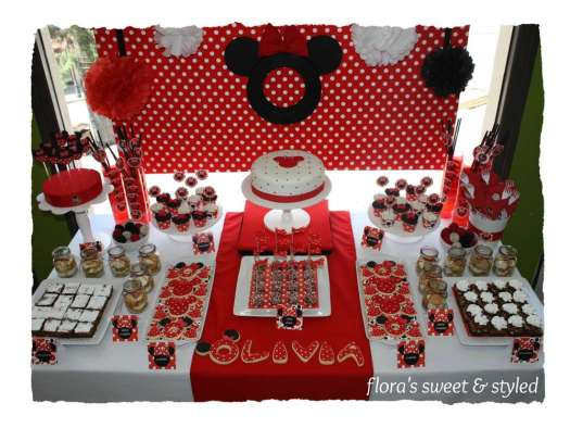 Red Black White Minnie Mouse Party Decorations Decoration For Home
