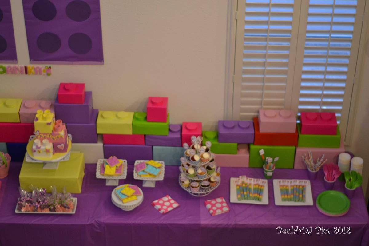 LEGO® Friends Pink Purple Girl Birthday Party Ideas