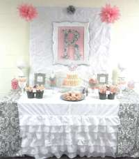 Pink + Grey Damask Baby Shower Baby Shower Party Ideas ...
