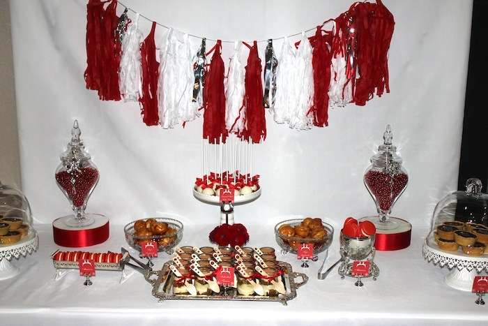 Red White And Silver Christmas Christmas Holiday Party