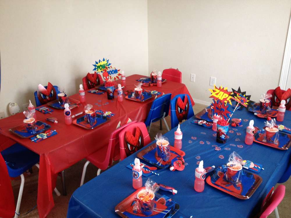 Spiderman Birthday Party Ideas  Photo 3 of 9  Catch My Party