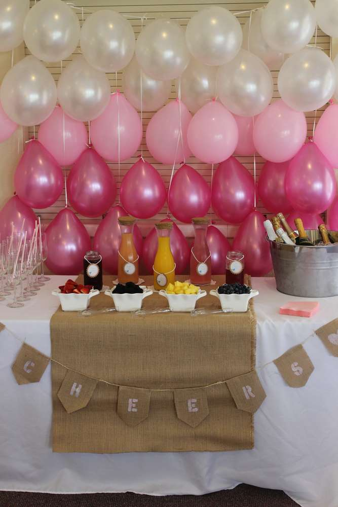 Burlap Lace And Pearls Baby Shower Party Ideas Photo 2