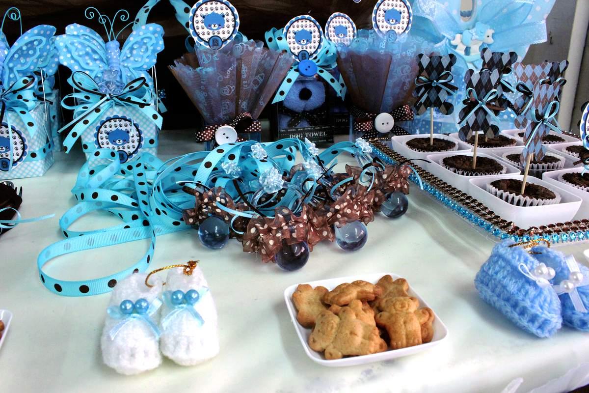 Brown Amp Blue Teddy Bear Theme Baby Shower Party Ideas