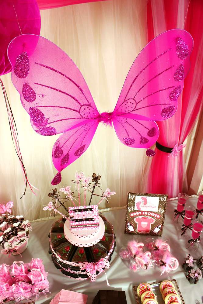 Baby Welcome Decoration Ideas : welcome, decoration, ideas, Brown, Butterfly, Shower, Party, Ideas, Photo, Catch