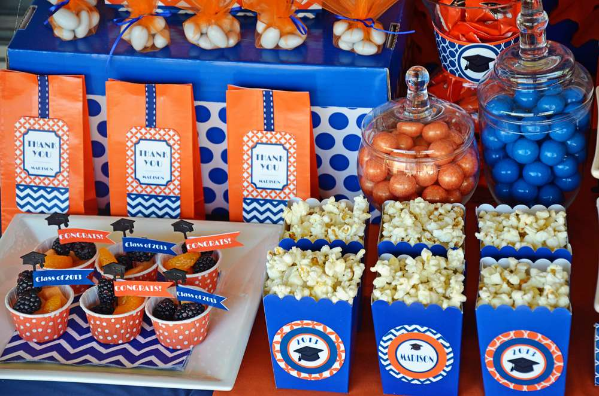 orange blue graduation end