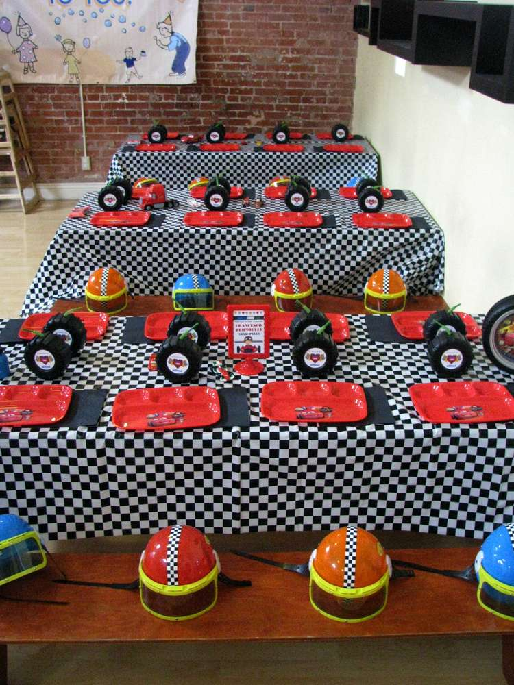 Cars 2 Birthday Party Ideas Photo 1 Of 23 Catch My Party