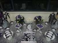 Purple, Black, White and Silver Birthday Party Ideas ...