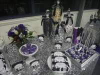 Purple, Black, White and Silver Birthday Party Ideas
