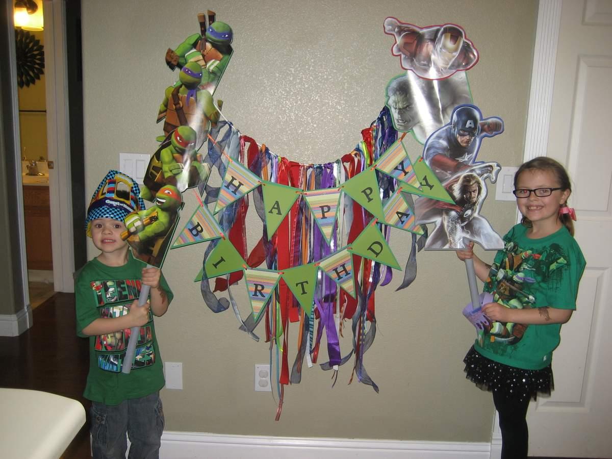 Teenage Mutant Ninja TurtlesAvengers Birthday Party Ideas