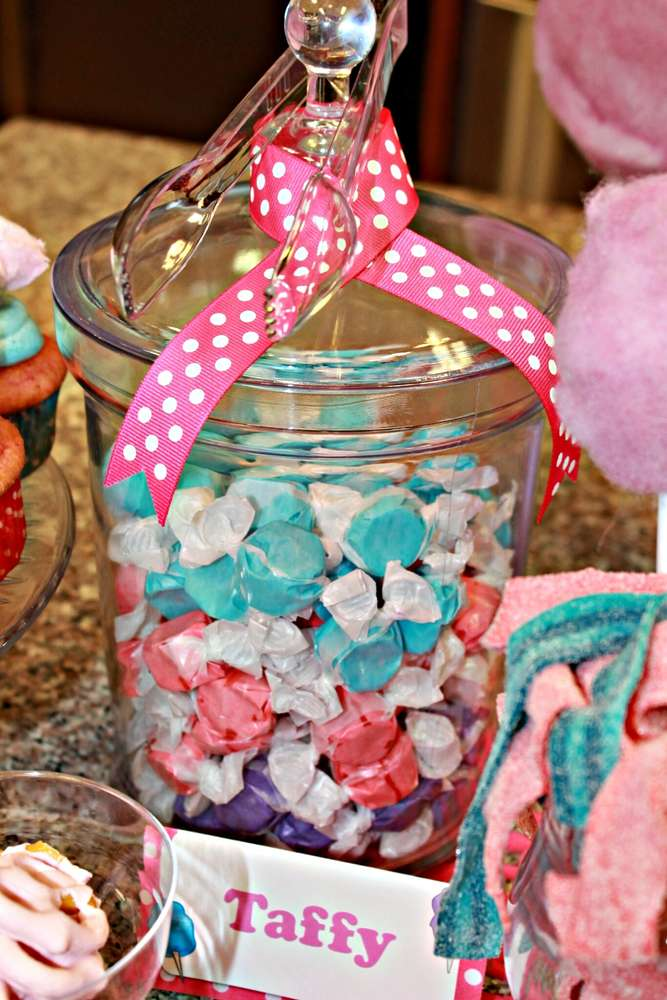 Cotton Candy Birthday Party Ideas Photo 13 Of 24 Catch