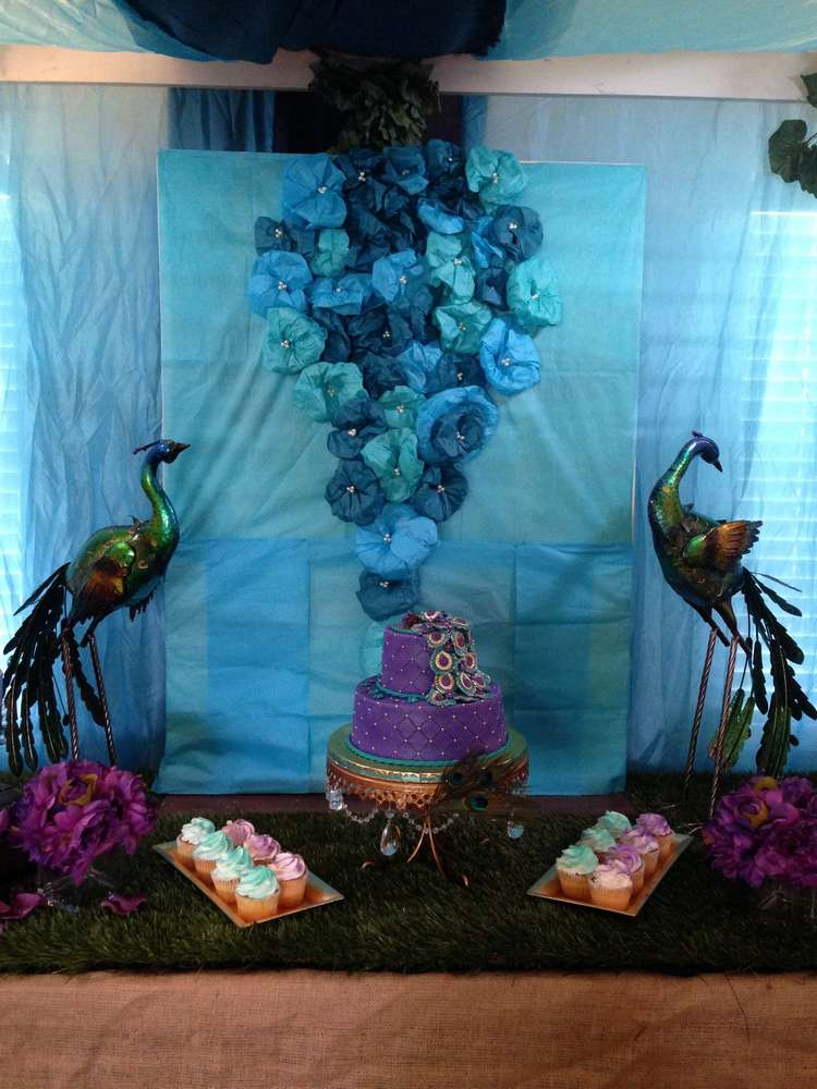 Kevontis Peacock Baby Shower Baby Shower Party Ideas  Photo 1 of 45  Catch My Party