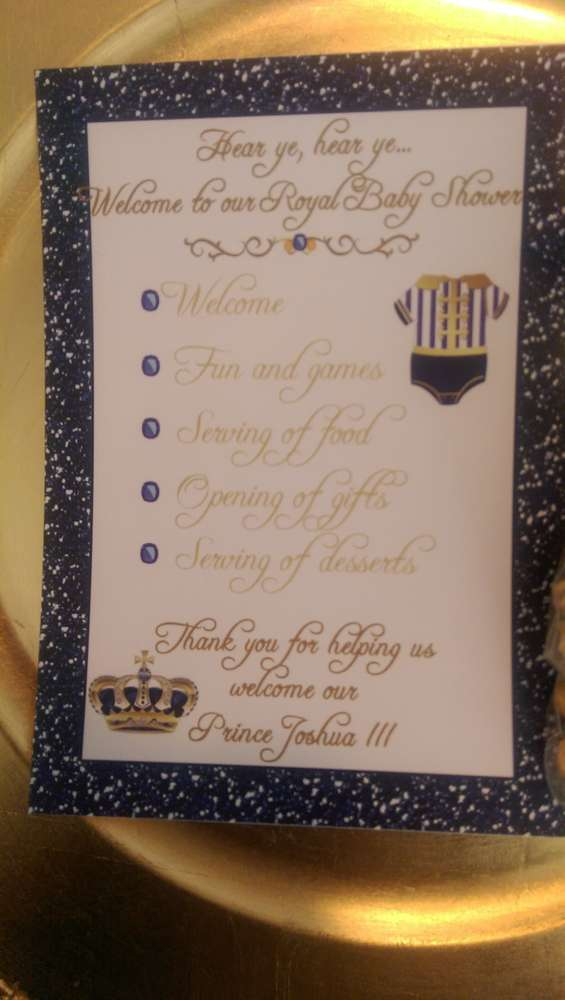 Royal Prince Baby Shower Party Ideas  Photo 2 of 39  Catch My Party
