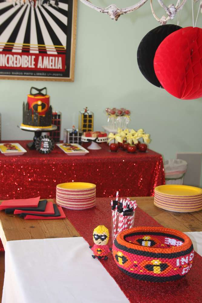 Incredibles Birthday Party Ideas Photo 2 Of 53 Catch