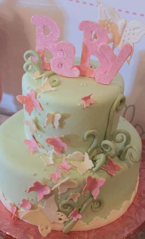 Pink Amp Mint Butterfly Baby Shower Party Ideas Photo 9 Of