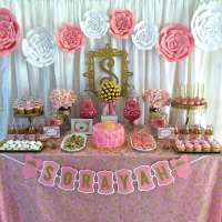 Pink and Gold Baby Shower Baby Shower Party Ideas   Photo ...