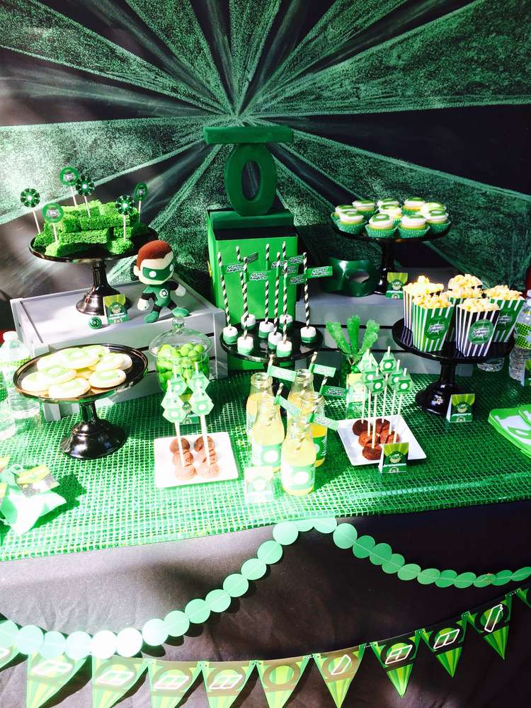 Green Lantern Birthday Party Ideas Photo 1 Of 29 Catch