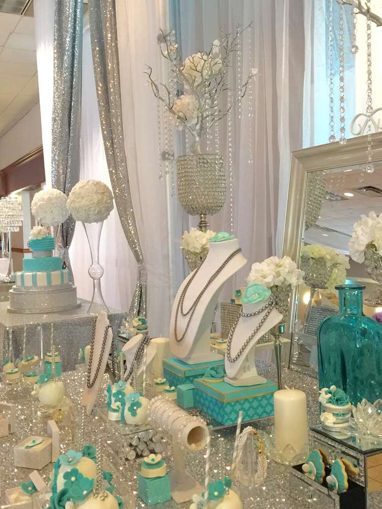 Tiffany  Co Quinceaera Party Ideas  Photo 1 of 18
