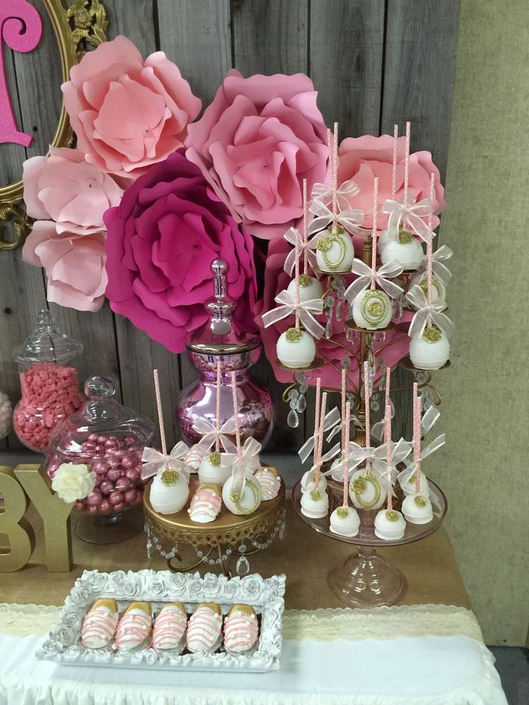 Its a girl Baby Shower Party Ideas  Photo 1 of 13