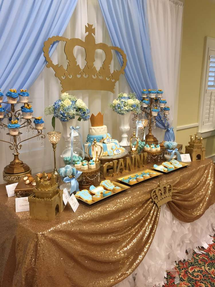 Prince Baby Shower Party Ideas  Photo 4 of 7  Catch My Party