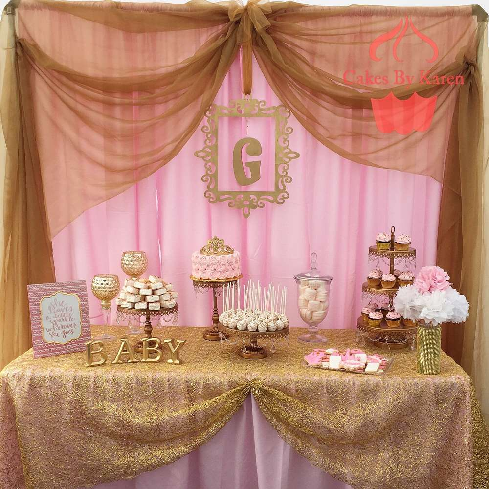 Pink And Gold Baby Shower Baby Shower Party Ideas Photo 1 Of 4 Catch My Party