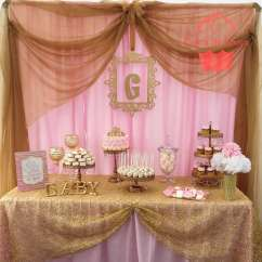 Angel Chair Covers Target Side Chairs Pink And Gold Baby Shower Party Ideas   Photo 1 Of 4 Catch My