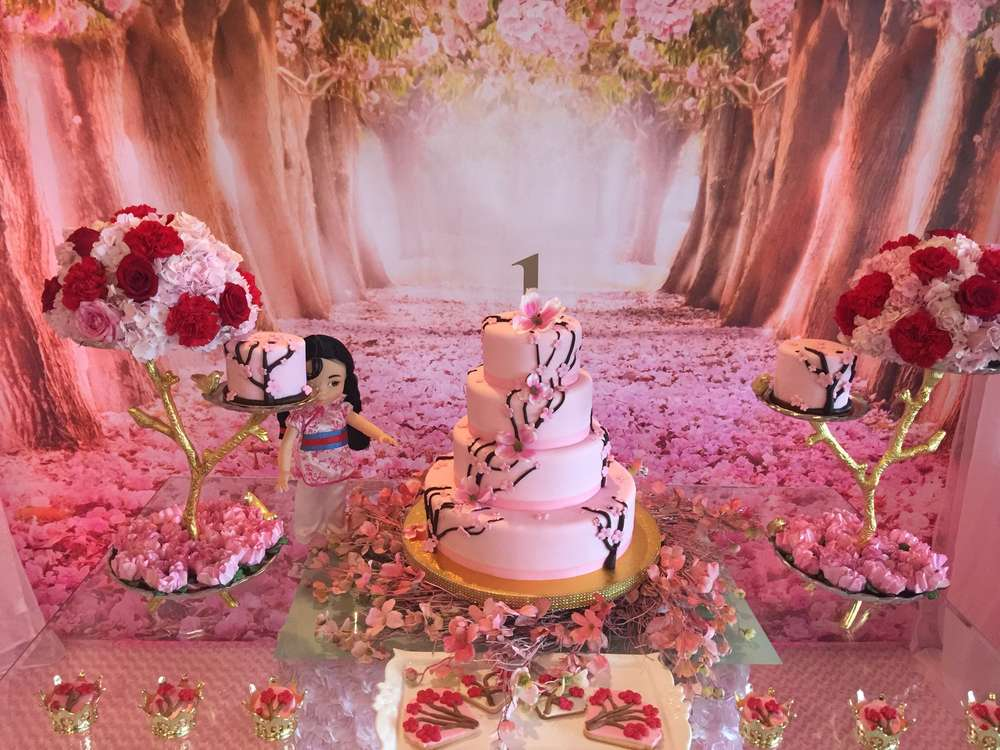 MulanCherry Blossom Chinese Birthday Party Ideas  Photo