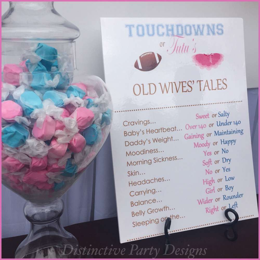 high chair tutu shower transfer touchdowns or tutu's gender reveal party ideas | photo 1 of 9 catch my