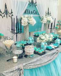 Tiffany & Co. Baby Shower Party Ideas | Photo 1 of 8 ...