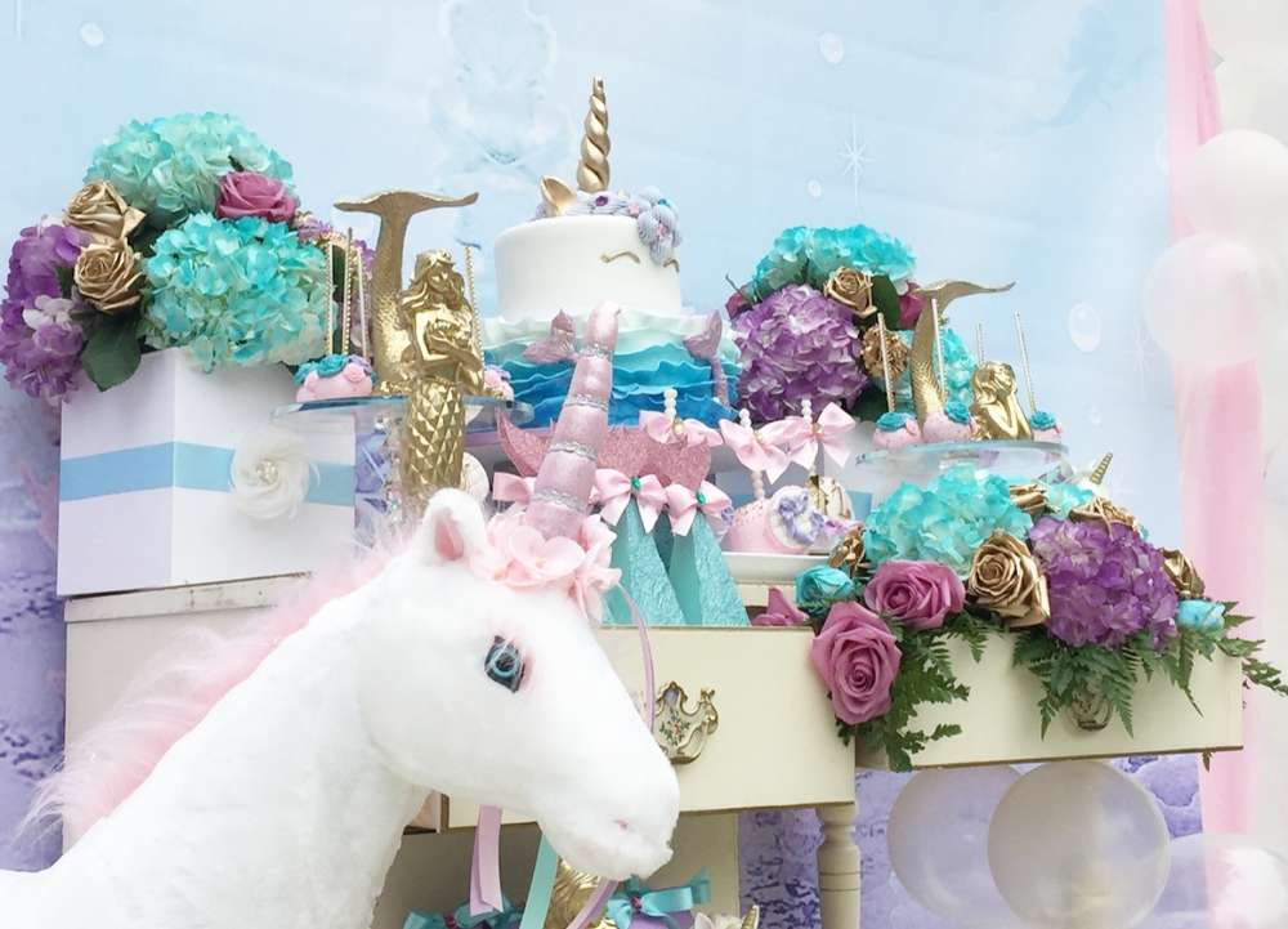 Unicorns Mermaids Fairies Birthday Party Ideas Photo 6