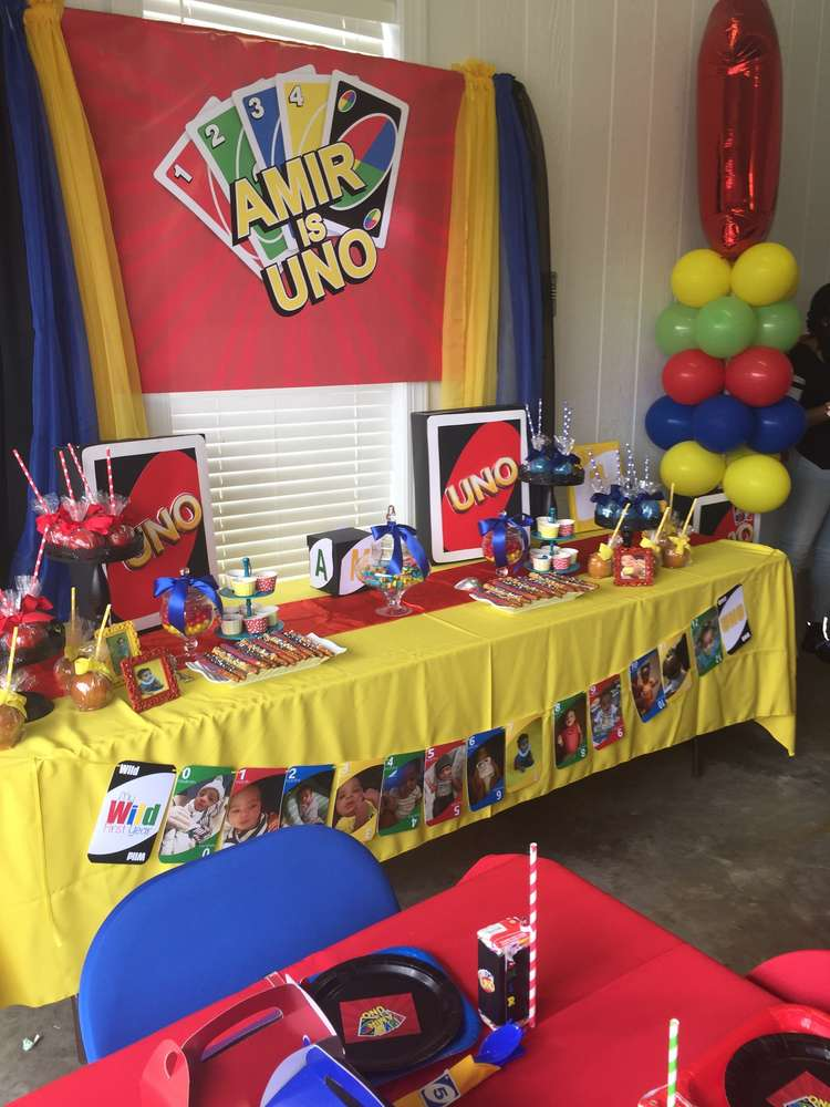 Uno Card Theme Birthday Party Ideas Photo 2 Of 22